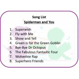Spiderman and You Song List.png