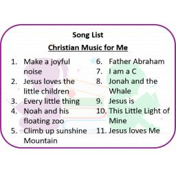 Christian Music for Me Song List.png